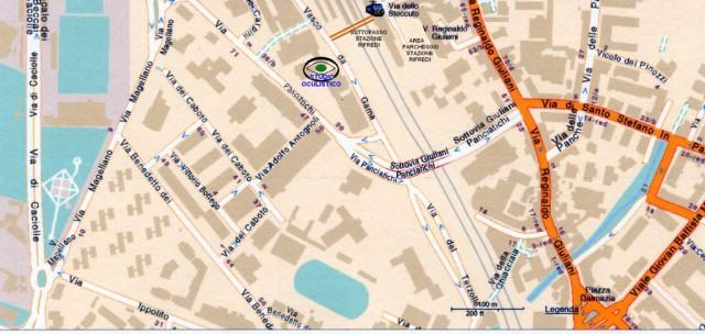 immagine della mappa per arrivare allo studio