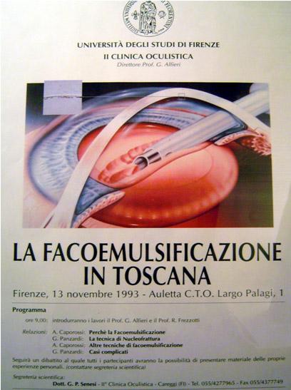Immagine del programma del congresso La facoemulsificazione in toscana